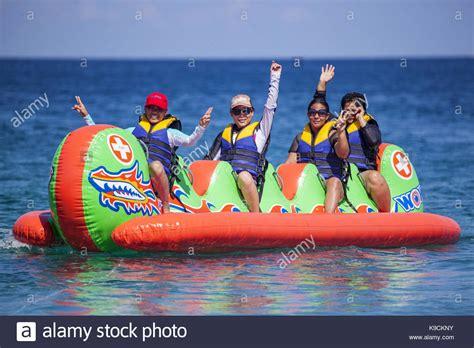 banana boat ride brighton raft ride stock photos raft ride stock images alamy