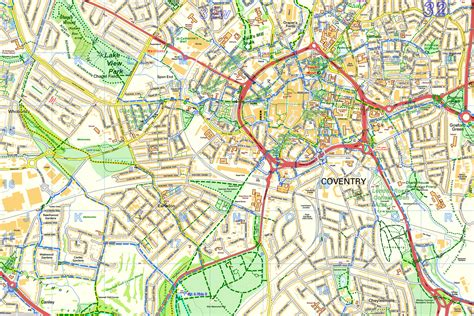 maps coventry walks