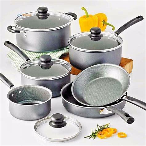 Teflon Prima Cook cookware set stainless steel nonstick 10 pc pots n pans kitchen saucepan skillet ebay