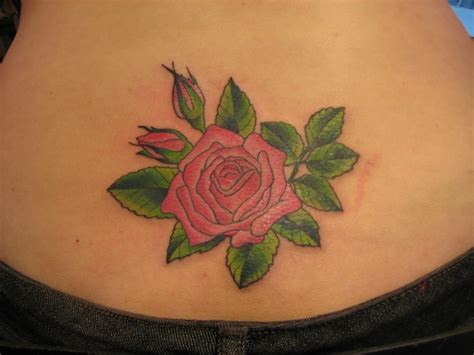 rose lower back tattoos flower tattoos designs and ideas for