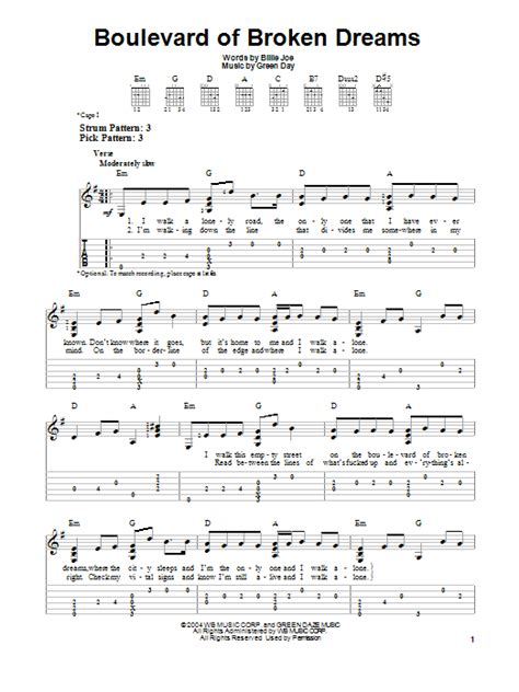 Holiday Green Day Guitar Chords