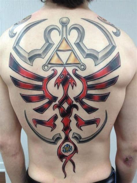 Zelda Tattoo Back | 45 zelda and triforce tattoos for nintendo devotees