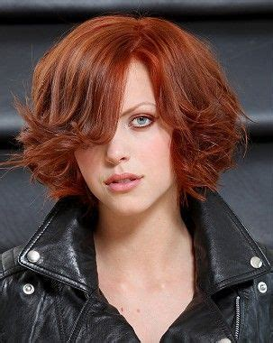 a medium red straight coloured hairstyle by guys & dolls
