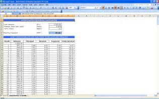 amortization schedule calculator excel templates