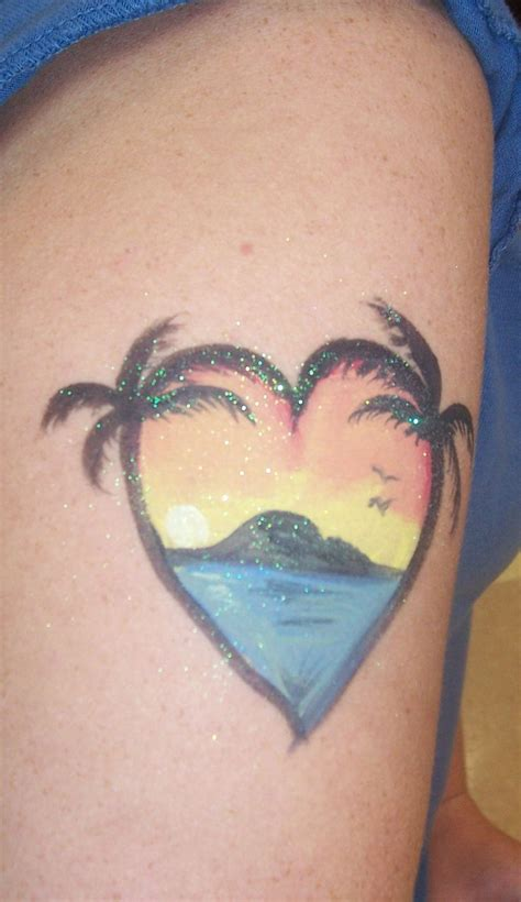 small beach tattoos collection of 25 sunset waves color image