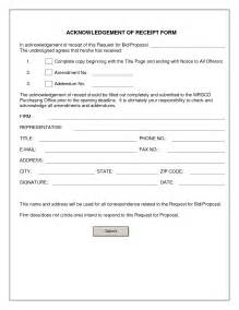 document form template best photos of acknowledgement receipt sle