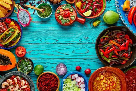colorful food fondo colorido mezcla de comida mexicana m 233 xico fotos de