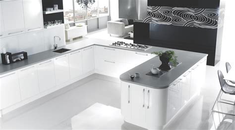New Kitchens B Q by High Gloss White Kitchen Kitchen Other