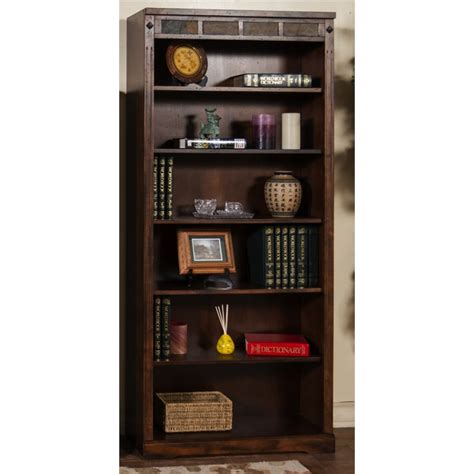 designs santa fe 5 shelf bookcase in chocolate