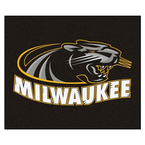 fanmats ncaa of wisconsin milwaukee black 5 ft