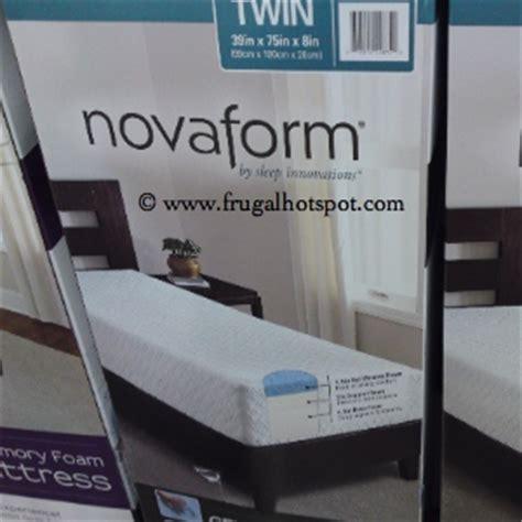 Costco Mattress Sale by Costco Deal Sleep Innovations Novaform Gel Memory Foam