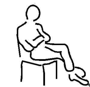 stuhl comic mann stuhl skizze ausmalbild malvorlage comics