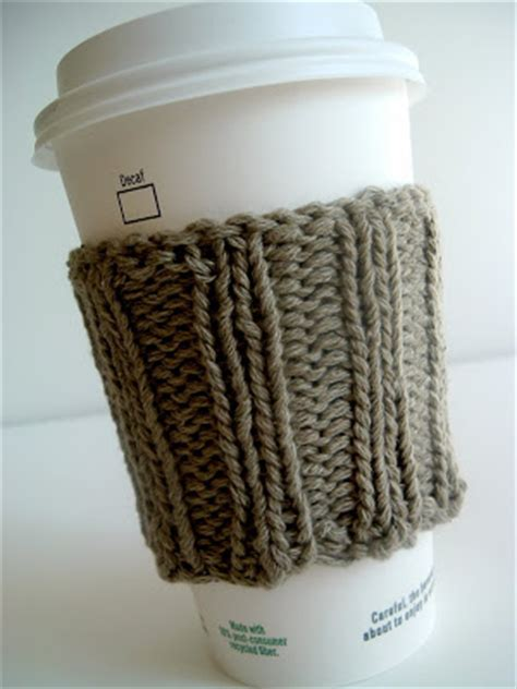 coffee sleeve knitting pattern coffee cup sleeve pattern patterns gallery
