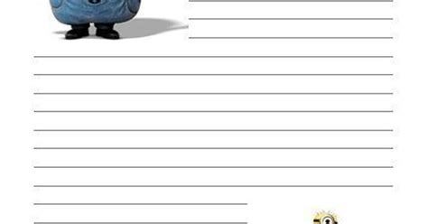 a5 writing paper minion despicable me letter writing paper a4 a5