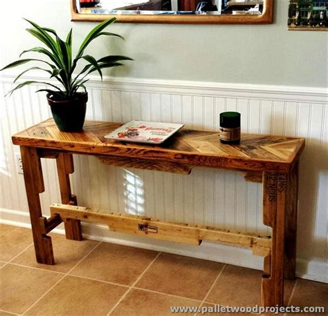 sofa table design plans pallet console table plans pallet wood projects