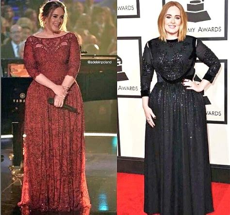 weight loss 50 pounds adele 50 pound weight loss dazzles grammys vegetarian