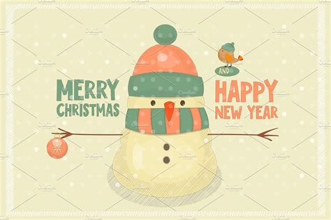 design inspiration christmas merry christmas greeting card illustrations creative