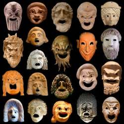 ancient greek theater masks the ancient greek term for a