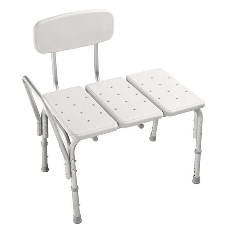 shower chairs and benches delta adjustable tub transfer bench df565 the home depot