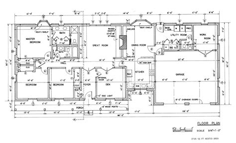 Free Blueprints For Houses Free Country Ranch House Plans Country Ranch House Floor