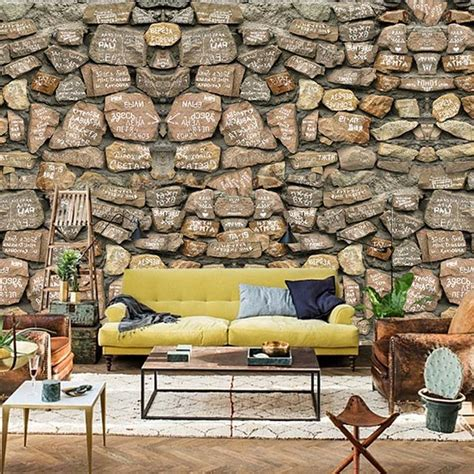 home decor wallpaper online india aliexpress com buy 3d stone wallpaper modern pvc