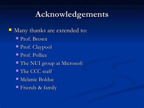 acknowledgement thesis ppt thesis presentation
