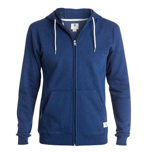 Blue Zip blue zip up hoodie mens fashion ql