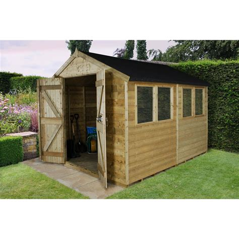 Tongue And Groove Timber For Sheds by Shedswarehouse Hanbury 10ft X 8ft Pressure Treated