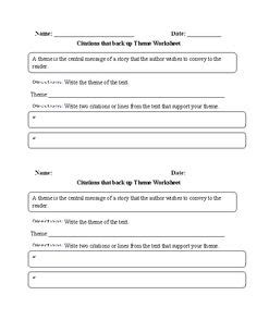 theme definition worksheet vocabulary worksheet define write draw template