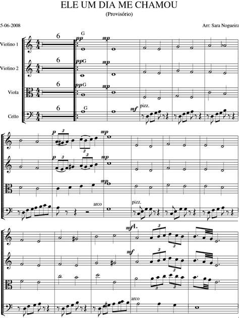 Violinos ICM: Partitura 1162- Ele um dia me chamou, Cordas.