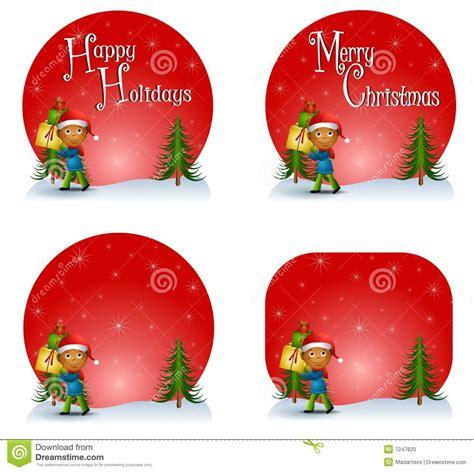 christmas themed logos boy christmas gift logos stock photo image 7247820