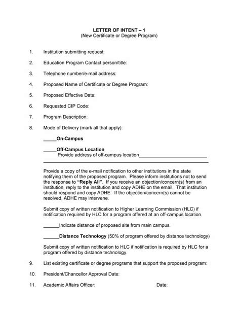 Excelsior College Letter Of Qualification 40 Letter Of Intent Templates Sles For School Business