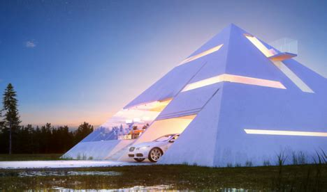 Space Saving Kitchen Furniture futuristic pyramid house fit for an ultra modern pharaoh