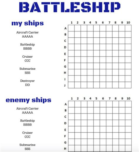 battleship board template battleship board printable 171 the best 10 battleship