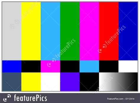 colored tv television colored bars signal image