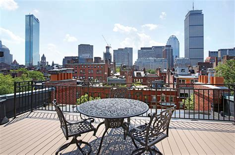 The Back Deck Boston by Roof Deck Reimagined Decking Out A Back Bay Duplex