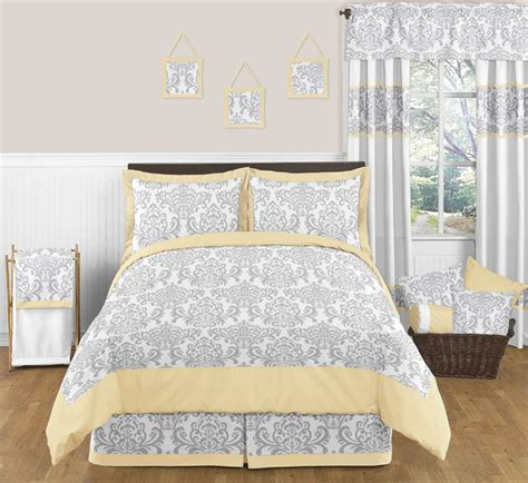Yellow And Gray Bedding Set Discount Yellow Gray Damask Boy Grey Comforter Bedding Set Ebay