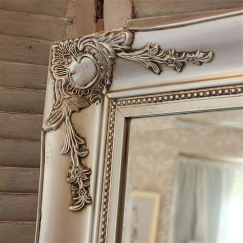 large silver wall floor ornate mirror bedroom