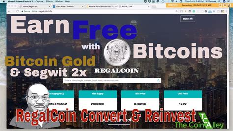 bitcoin earning tutorial earn free bitcoin w btc gold segwit 2x regalcoin qt