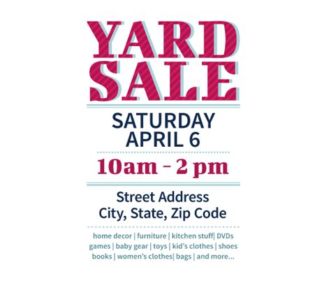 Garage Sale Flyer Template Word by This Yard Sale Flyer Template And Other Free