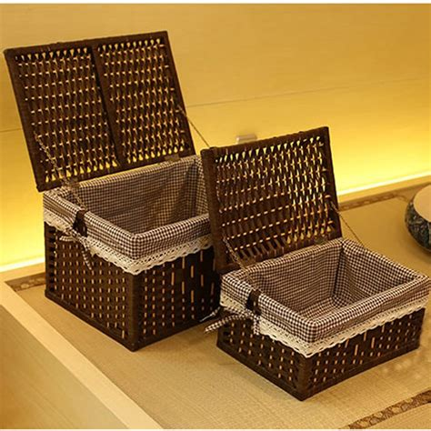 laundry storage baskets container paper rope cloth storage
