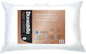 dunlopillo comfort pillows