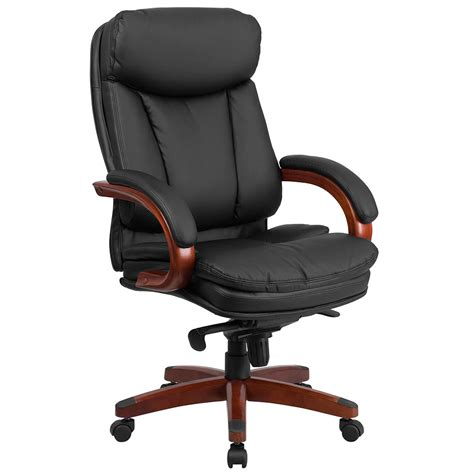 wood and leather swivel desk chair conference chairs leather executive chairs tx ca ny pa