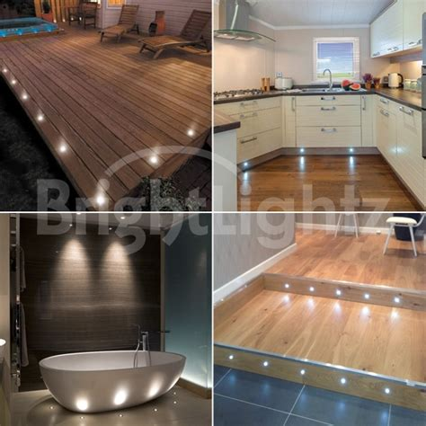 Kitchen Plinth Lights Set Of 10 Led Deck Lights Decking Plinth Kitchen Lighting Set White 45mm