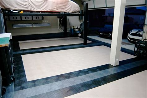 cool garage floors cool looking garage flooring traditional garage and