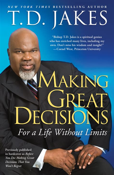 to the bishop books great decisions book by t d jakes official
