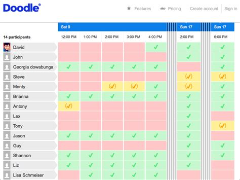 how to use doodle scheduler doodle helps you schedule meetings tidbits
