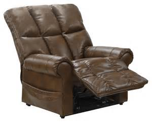 stallworth chestnut bonded leather power lift recliner
