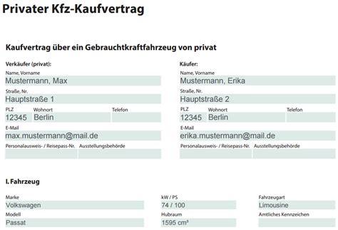 Kaufvertrag Motorrad Word Kostenlos by Kostenlos Kfz Kaufvertrag Beispiel