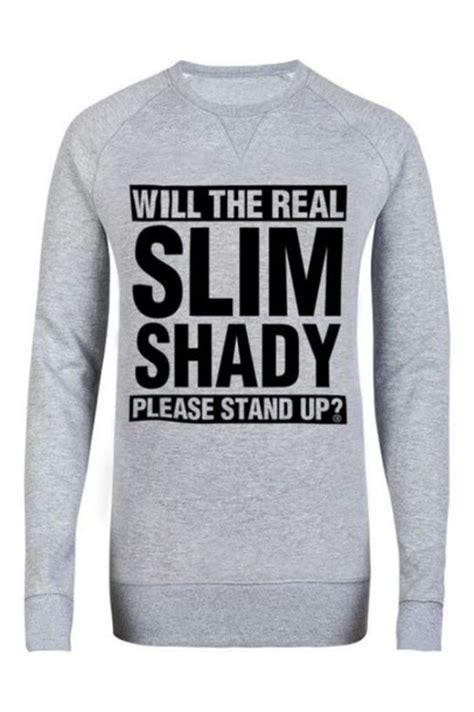 Sweater Shady Made Me Eminem Anime sweater grey sweater eminem slim shady wheretoget